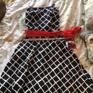 Ruby Rox Strapless Rockabilly Dress Sz. S
